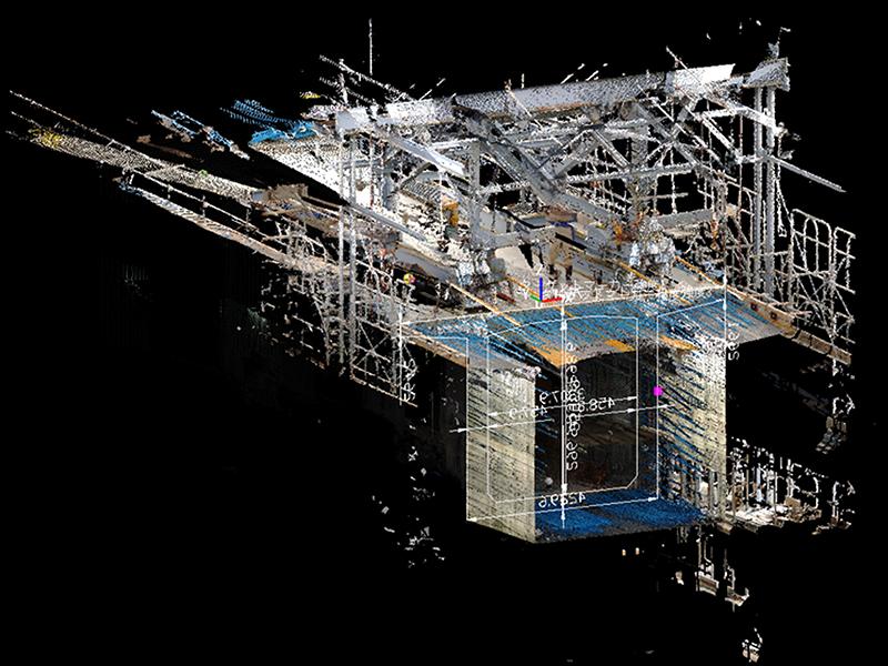 3Dレーザースキャナーとソフトを用いた測定システムを開発